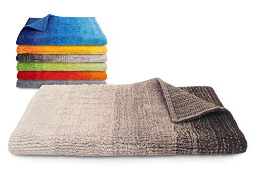 Dyckhoff Badteppich Colori - 100% Bio-Baumwolle - 1500 g/m² - einzeln gefertigt 544.662, 60 x 100 cm, braun
