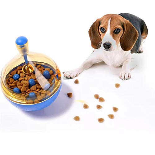 Dog Treat Ball Toy Dog Slow Fooder Bowl Interactive Dog Food Dispenser with Food Holes Dog Interactive Toys for Indoor