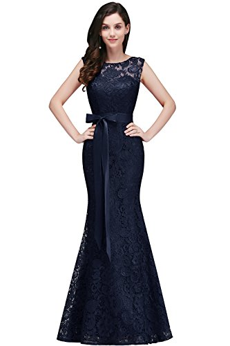 Babyonline® Damen Elegant A-Linie Chiffon Abendkleid Brautjungfernkleid Ballkleid lang 40