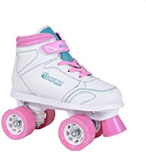 Chicago Girls Sidewalk Roller Skate - White Youth Quad Skates - Size J13