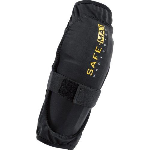 Safe Max® Knie-Motorrrad-Protektor Gelenkschlauch mit Protektor für Knie, 2er Set schwarz M, Unisex, Multipurpose, Ganzjährig, Textil