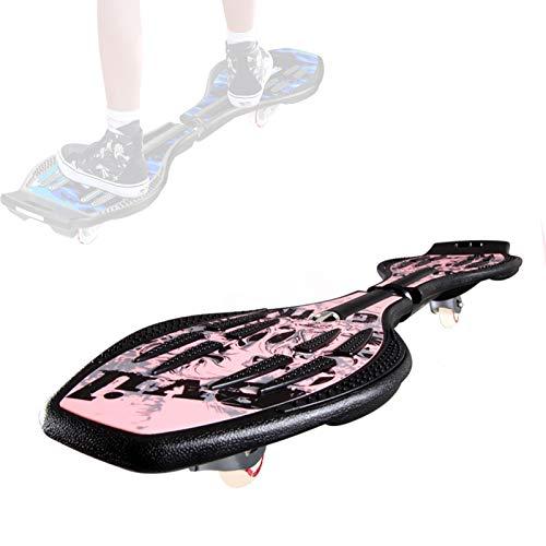 Grist CC Waveboard Swing Board, Doppelrad Street Surfing Skateboard, Balancing Air Casterboards, Torsion Swing Snakeboard, Mit Tasche Und Glühen Rad,C