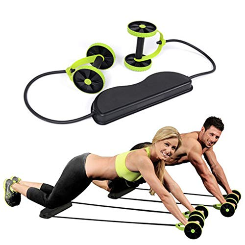 DQM AB Roller multifunctionele trainingsuitrusting voor workouts, Ab Roller Power Core trainingstrainer + body fitness abdominale saunagordel met 5 modi training
