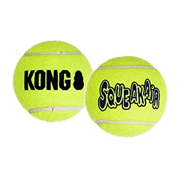 KONG - Squeakair Balls - Balle de Tennis couineuse, n'abîme Pas Les Dents - pour Chien Taille Moyenne (6 Paquets)
