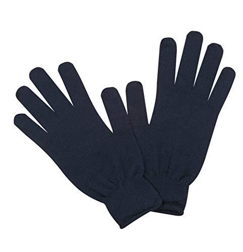 Sub Zero - Guanti termici in lana merino, isolanti e senza cuciture, leggeri Nero L/XL