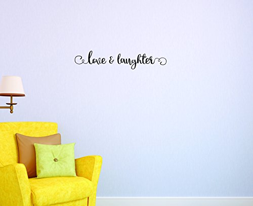 Motif Vinyle Avec 1 Recharges de 2046 1 Hot nouveaux autocollants Amour et rire Art mural Taille : 15,2 x 50,8 cm Couleur, 15,2 x 50,8 cm, Noir