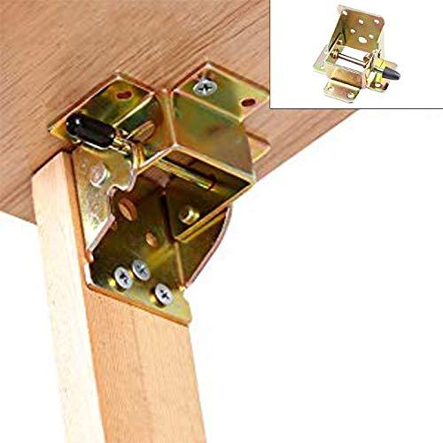 Pumpnnk 4PCS 90 Grad Selbstsichernde Scharnier Scharnier Eisen-Locking Klapptisch Stuhl Fußstützen Scharnier Self Lock Faltbare Scharniere Möbelbeschläge Zubehör Bett Klapptisch Beine Füße
