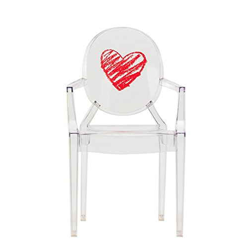 Kartell Lou Ghost Chaise coeur