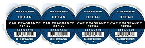 Bath and Body Works 4 Pack Ocean Scentportable Fragrance Refill. 0.2 Oz