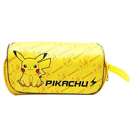Sac à Crayons Pokemon, NALCY Trousse Pikachu, 3D Imprimer Trousse à Crayons, PikachuTrousse à Crayons, Trousse à Crayons Grande Capacité Porte-crayons à Stylos Trousse à Maquillage
