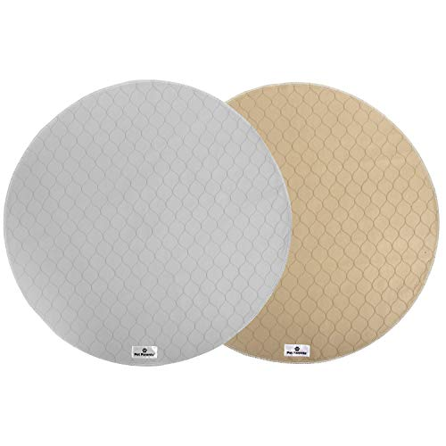 Pet Parents Washable Round Whelping Pads (2pack)...