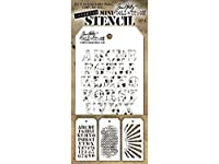 Tim Holtz Mini Layered Stencil Set 3/Pkg-Set #5 by Stampers Anonymous