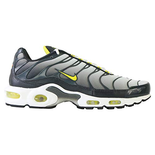 Nike Mens Air Max Plus Anthracite/Opti Yellow/White Mesh Running Shoes 10 M US