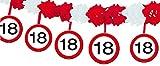 Folat B.V- Folat Guirnalda de señales de tráfico de 18 años con perchas4 m, Multicolor, Adulto (5217)