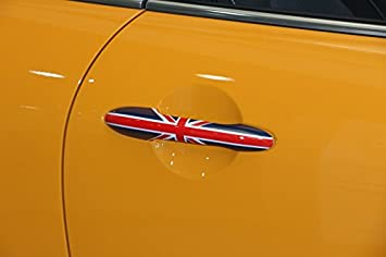 Black Union Jack UK Design Türgriff decken Fit Mini Cooper R50 R52 R53 R55 R56