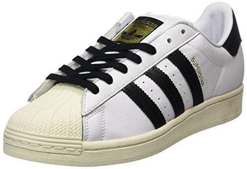 adidas Herren Superstar Sneaker, FTWR White/Core Black/FTWR White, 42 EU