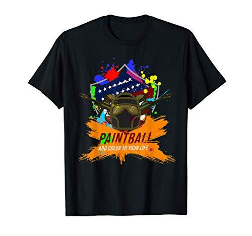 Paintball Player Tshirt Color Paint Ball Shooting Game T-Shirt