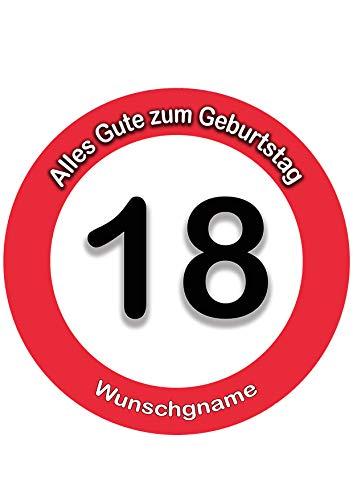 18 Geburtstag Wunschname Tortenaufleger Tortenbild Fondant Ø 20cm / 1412