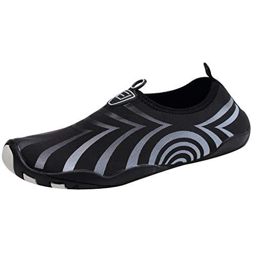 Calvinbi Sale Comfort Fit Outdoor Mens Womens Quick Drying Water Beach Shoes Flats Lightweight DivingMesh Running Trainers Athletic Walk Gym Sport Shock Absorbing Weaving Casual Yoga Sneakers Black