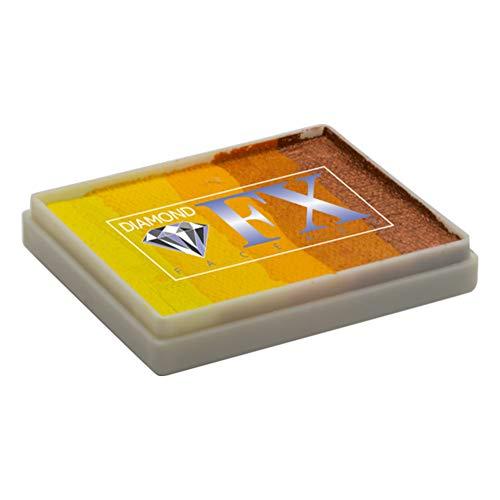 Diamond FX Split Cake - Wild Cheetah RS50-78, gâteaux arc-en-ciel de qualité professionnelle, peinture faciale activée à l'eau, 1,76 oz / 50 g