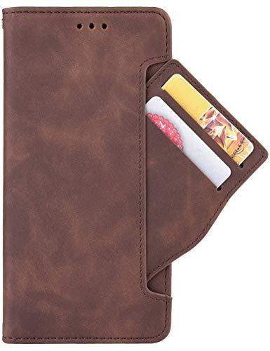 14chvily für Samsung Note20 Ultra Hülle Galaxy Note 20 Ultra Klapphülle Premium Leder Handyhülle Tasche Flip Hülle Schutzhülle für Samsung Galaxy Note20 Ultra (braun)