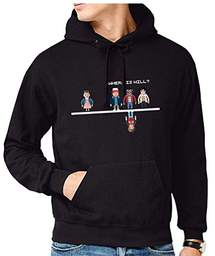 Sudadera de Hombre Stranger Things Once Series Retro 80 Eleven Will 008 M