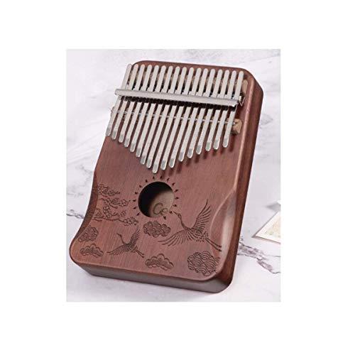 FEE-ZC Kalimba portátil, Piano de Pulgar de 17 Teclas, Adecuado para Rendimiento Profesional (Regalo; Bolsa de Piano Wenyi, Tutorial básico, Tela de Piano, Martillo de afinación) (Color: D)