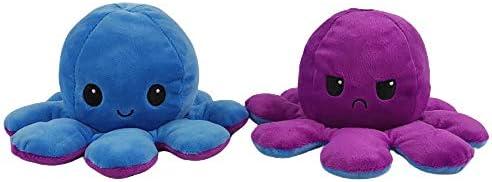 Fanmu Oktopus-Plüschtier, wendbares Spielzeug, weiches Stofftier