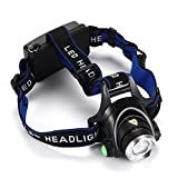 Head Torch 5000 Lumens Head Lamp Torch Light Rechargeable Zoom Waterproof High Power