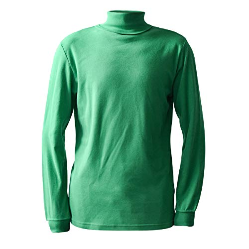 Green Men's Combed Cotton Euro Design Ski Casual Turtleneck (Large)