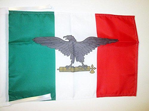 AZ FLAG Bandera de la REPÚBLICA Social Italiana 45x30cm - BANDERINA Italia FASCISTA - RSI 30 x 45 cm cordeles
