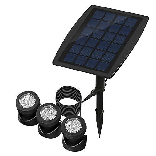 ALLOMN LED Solarstrahler, Solar Teichbeleuchtung Draussen Tauchstrahler Einstellbare Unterwasserleuchten RGB-Farbwechsel, Vier Lichtmodi, IP68 wasserdicht, Auto Ein/Aus (Set von 3 Leuchten)