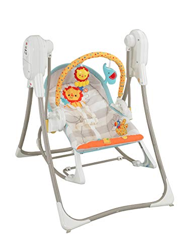 Fisher-Price BFH06 3-in-1 Swing-N-Rocker, New-Born Baby Swing Chair and Bouncer with Songs and Sounds, Suitable from Birth