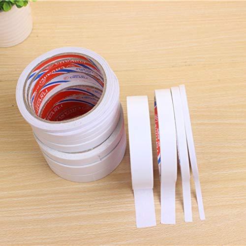 BIYI Cintas adhesivas acrílicas de doble cara Fuerte adhesivo Duradero Alta viscosidad Cintas de oficina blancas Material escolar Blanco