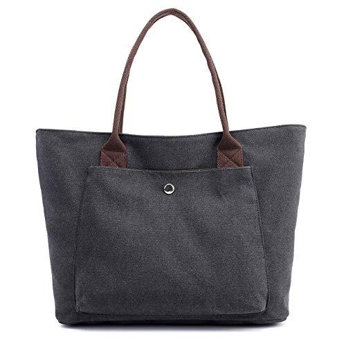 CVBGH Bolso De Lona Bolso De Tela De Color Sólido De Moda para Mujer Bolso De Mano De Ocio De Compras De Gran Capacidad