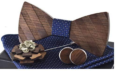 BeForBio Noeud papillon bois fait main, chic et tendance, accessoire mode ou idée cadeau. Ajustable facilement.