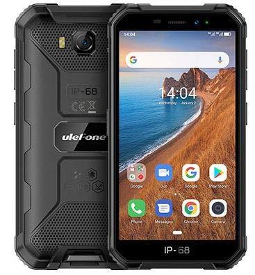 "Ulefone Armor X-6 Teléfono Moviles Resistentes Barato, Android 9.0 5.0 ""IP68 Impermeable Móvil Antigolpes Todoterreno, Dual SIM, 2GB + 16GB, 5MP+8MP, 4000mAh Batería, Desbloqueo Facial GPS Negro"