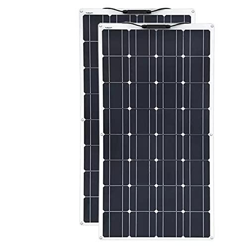 MEIGONGJU Solar Panel 18V 500W 250W PET TPT Flexible Waterproof Solar Panel Car Boat Battery Charger Solar Panel Kit Complete for Home,250W