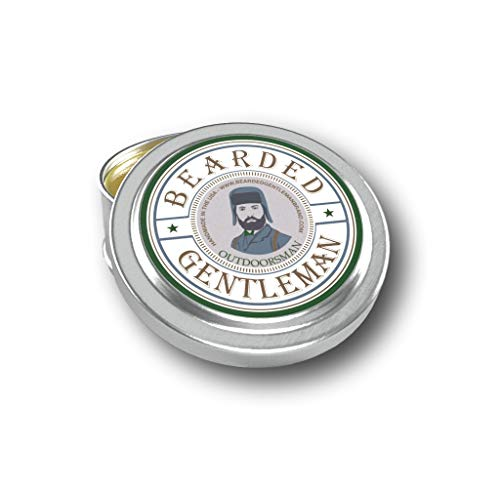Bearded Gentleman Outdoorsman Men's Solid Cologne - Cedar, Fir, and Pine - 1 oz - Natural Ingredients - Travel Sized Pocket Tin - Best Smelling Scent - Perfect Gift - Handmade in the USA