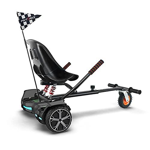 FLYTRAKS K2 Hoverboard Go Kart with Rear Shock Absorption, Hoverboard Seat...