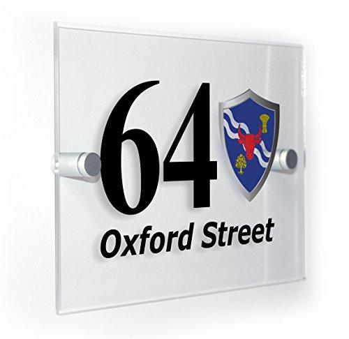 Premium Home Plaques Oxfordshire Cherwell (Oxford Flagge Classic Style Hausnummer Home Zeichen für Außeneinsatz alle Wand Arten
