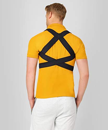 ®BeFit24 - Geradehalter zur Haltungskorrektur für Rücken und Schulter für Kinder, Damen und Herren - Wirbelsäulen Stütze - Back Posture Corrector for Men and Women [ Size 3 - Blau ]