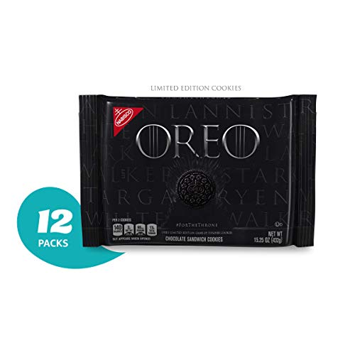 OREO Limited Edition Game of Thrones Themed Classic Chocolate Sandwich Cookies (Pack of 12), Black