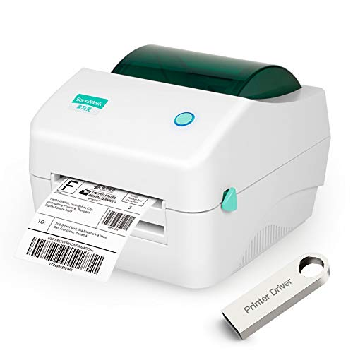 Fangtek Shipping Label Printer - Direct Thermal High Speed Printer - Compatible...