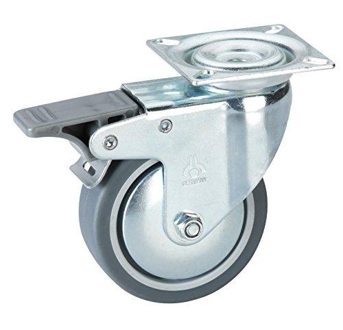 Dörner + Helmer Apparate Lenkrolle (mit Fadenschutz, Festst, 75 x 25 mm) 771200C