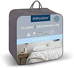 Woolstar Single Easywash Wool Quilt Lightweight, Bed 140x210cm