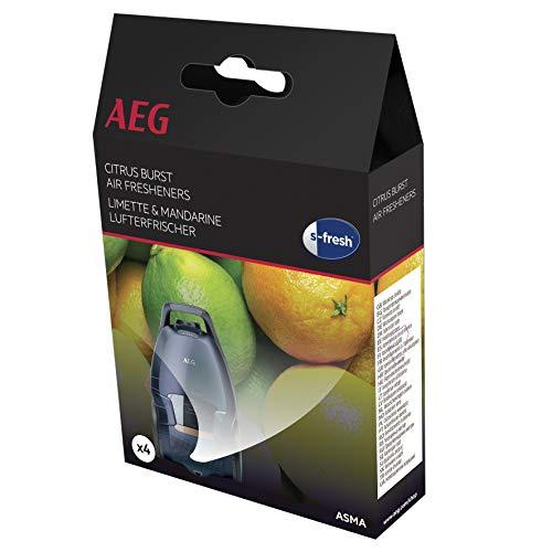 AEG ASMA s-fresh Duftgranulat (4 Sachets, Limette und Mandarine, Lufterfrischer, Duft von Zitrusfrüchten, einfache Anwendung, frische Staubsaugerluft)