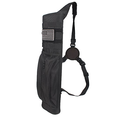 KRATARC Archery Multi-Function Heavy Duty Back Arrow Quiver with Molle System Shoulder Hanged Target Shooting Quiver for Arrows