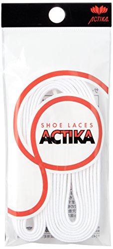 アクティカ 日本製 長パス 靴ひも 8mm幅 130cm, 白