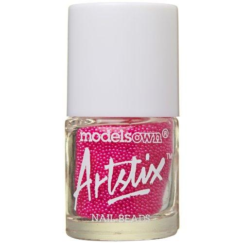modèles propre Artstix à ongles Perles Rose fluo